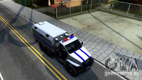 Урал NEXT Полиция для GTA San Andreas вид справа
