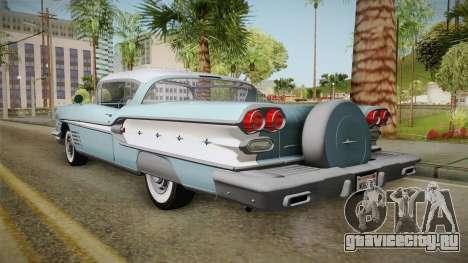 Pontiac Bonneville Hardtop 1958 IVF для GTA San Andreas вид слева