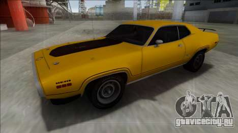 1972 Plymouth GTX для GTA San Andreas вид сзади слева