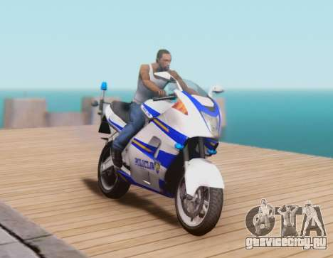 Croatian Police Bike для GTA San Andreas вид слева