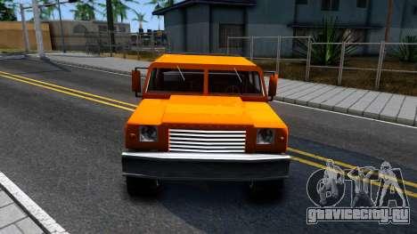 Civilian Patriot для GTA San Andreas вид изнутри