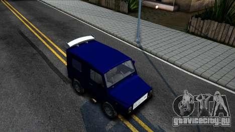 ЛуАЗ 969М Люкс для GTA San Andreas вид справа