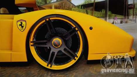 Ferrari Enzo Novitec Rosso для GTA San Andreas вид сзади слева