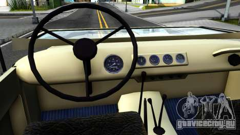 УАЗ 31512 для GTA San Andreas вид изнутри
