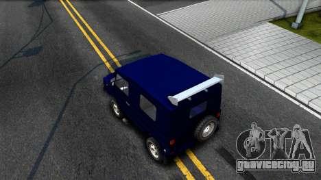 ЛуАЗ 969М Люкс для GTA San Andreas вид сзади