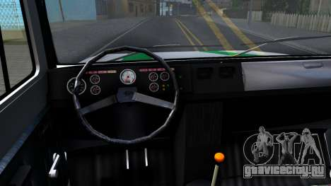 ГАЗ-3309 ФСИН России для GTA San Andreas вид изнутри