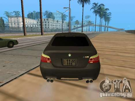BMW M5 E60 Armenian для GTA San Andreas вид изнутри