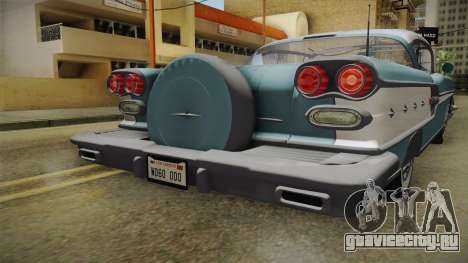 Pontiac Bonneville Hardtop 1958 IVF для GTA San Andreas вид сверху