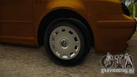 Volkswagen Golf Mk4 Stock для GTA San Andreas вид сзади