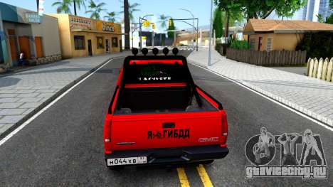 GMC Sierra 1992 для GTA San Andreas вид сзади слева