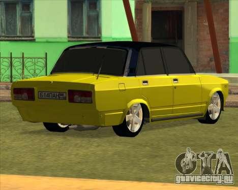 VAZ 2105 Golden Brodyaga Tuned для GTA San Andreas вид сзади слева