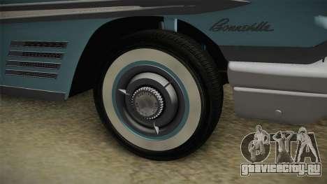 Pontiac Bonneville Hardtop 1958 IVF для GTA San Andreas вид сзади