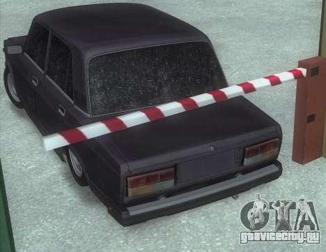 ВАЗ 2107 Побитая для GTA San Andreas вид сзади