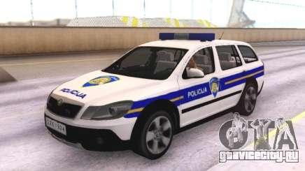 Skoda Octavia Scout Croatian Police Car для GTA San Andreas