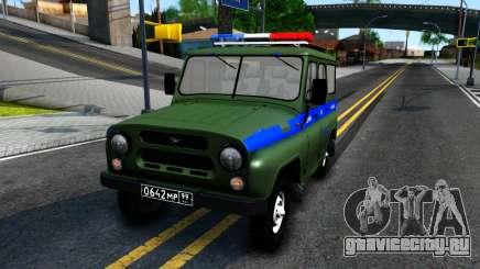 УАЗ-31512 Военная Авто Инспекция для GTA San Andreas