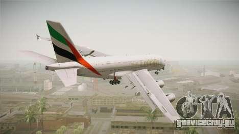 Airbus A380 Emirates Expo 2020 Dubai для GTA San Andreas вид слева