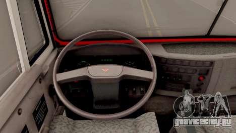 КамАЗ-6520 Пожарный АЦ-40 для GTA San Andreas вид изнутри