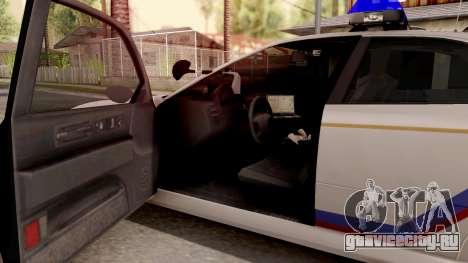 Dinka Chavos Hometown PD 2007 для GTA San Andreas вид изнутри