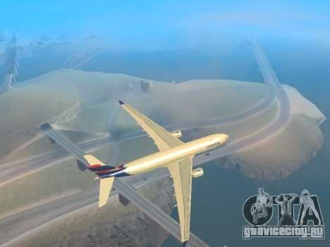 Airbus A330-200 LATAM Airlines для GTA San Andreas вид сзади