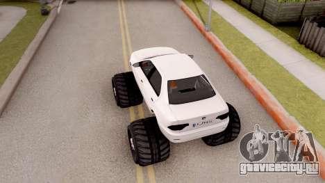 IKCO Samand Soren Monster для GTA San Andreas вид сзади