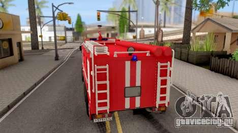 КамАЗ-6520 Пожарный АЦ-40 для GTA San Andreas вид сзади слева
