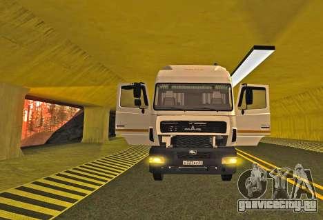 МАЗ 5440 для GTA San Andreas вид справа