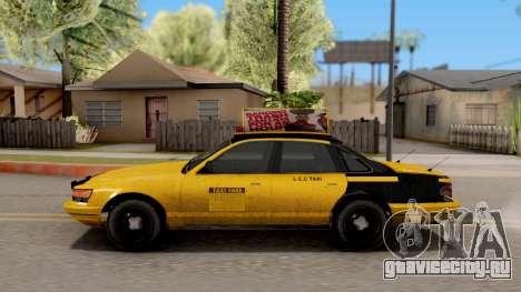 GTA IV Taxi для GTA San Andreas вид слева