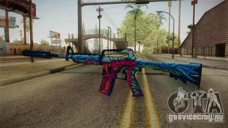CS:GO - M4A1-S Hyper Beast для GTA San Andreas третий скриншот