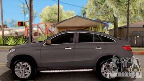 Mercedes-Benz GLE 350d для GTA San Andreas вид слева