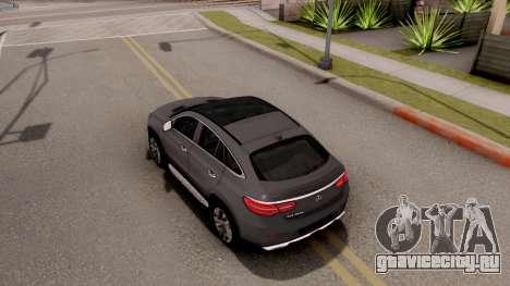 Mercedes-Benz GLE 350d для GTA San Andreas вид сзади