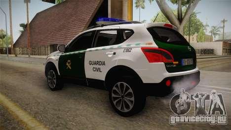 Nissan Qashqai Guatdia Civil Spanish для GTA San Andreas вид слева