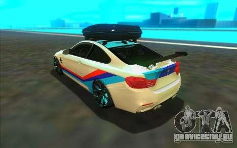 BMW M4 R для GTA San Andreas вид сзади слева