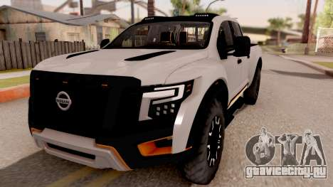 Nissan Titan Warrior 2017 для GTA San Andreas