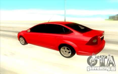 Ford Focus 2 Sedan для GTA San Andreas вид сзади слева