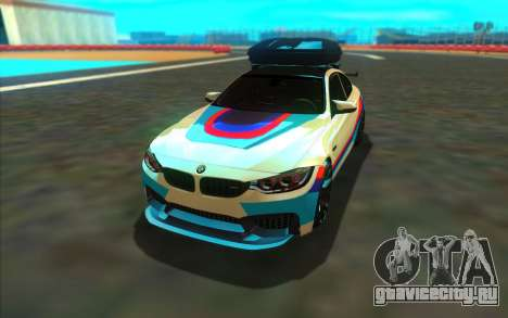 BMW M4 R для GTA San Andreas вид сзади