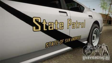 Bravado Buffalo 2009 SASP для GTA San Andreas вид изнутри