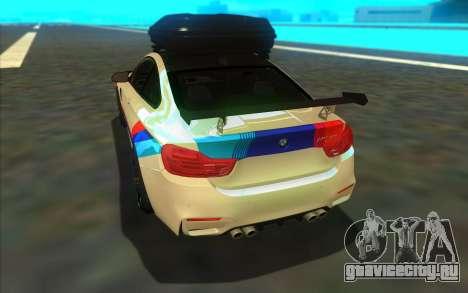 BMW M4 R для GTA San Andreas вид справа