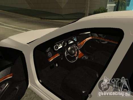 Mercedes-Benz S63 AMG Armenian для GTA San Andreas вид изнутри