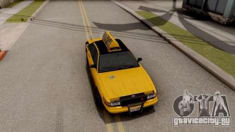 GTA IV Taxi для GTA San Andreas вид сзади