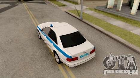 Audi A8 Russian Police для GTA San Andreas вид сзади