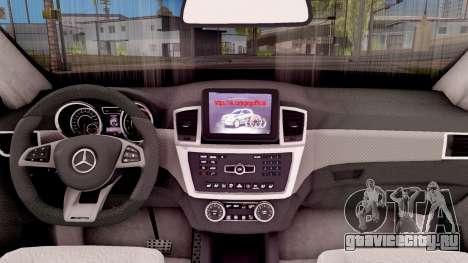Mercedes-Benz GLE 350d для GTA San Andreas вид изнутри