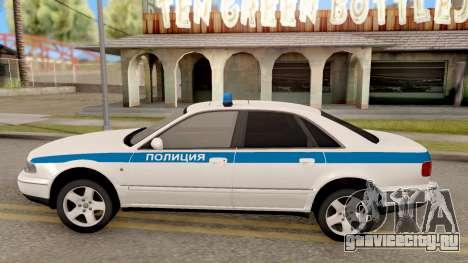 Audi A8 Russian Police для GTA San Andreas вид слева