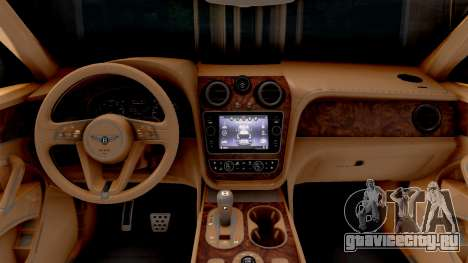 Bentley Bentayga для GTA San Andreas вид изнутри