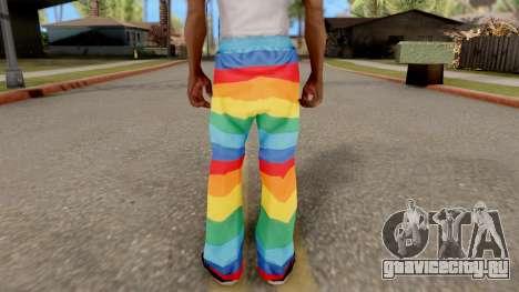 Радужные штаны для GTA San Andreas третий скриншот