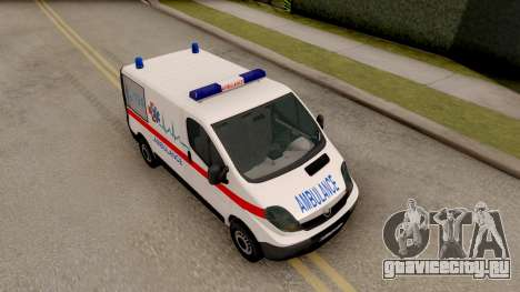 Opel Vivaro Serbian Ambulance для GTA San Andreas вид справа