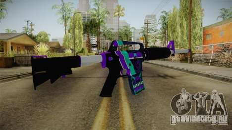 CS:GO - M4A1-S Lince No Silencer для GTA San Andreas второй скриншот