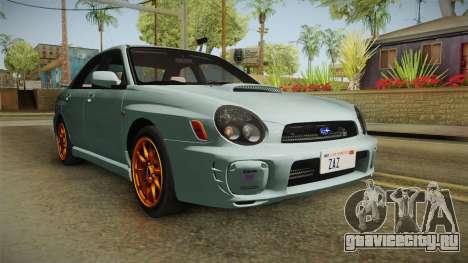 Subaru Impreza WRX Tunable для GTA San Andreas вид справа