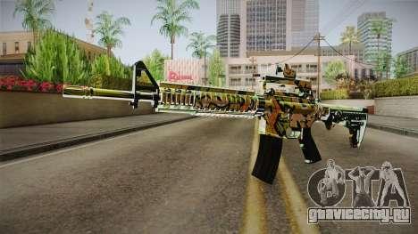 Orange Camo M4 для GTA San Andreas