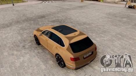Bentley Bentayga для GTA San Andreas вид сзади