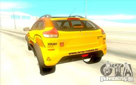 LADA X-Ray Rally для GTA San Andreas вид справа